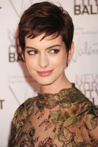 gloria anne hathaway short hair