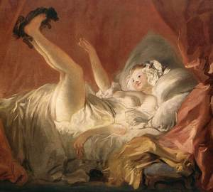 Young Woman Playing with a Dog, Jean Honore Fragonard