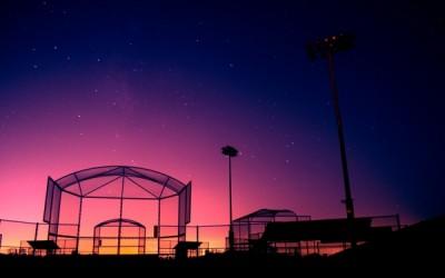 ballfield at night
