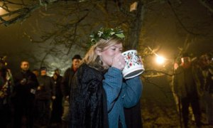 winter wassail orchard
