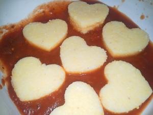 Polenta hearts