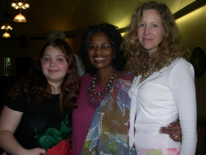 My daughter and I with Marjorie Bowens-Wheatley, my greatest spiritual guide, dead at 59.