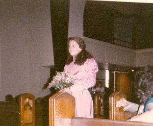 Our friend Ann at Kim's wedding