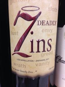 7 deadly zins bottle