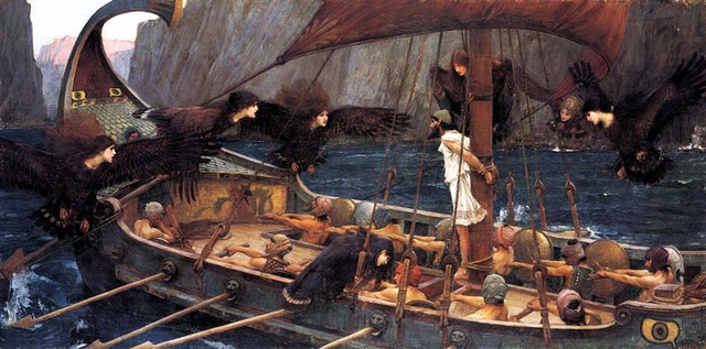 """""""Odysseus and the Sirens, """" Waterhouse"""