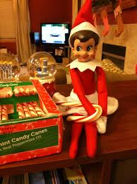 elf with candy